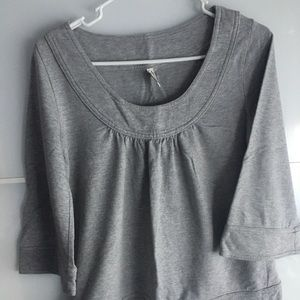 Old Navy Grey Babydoll Top | Size XS